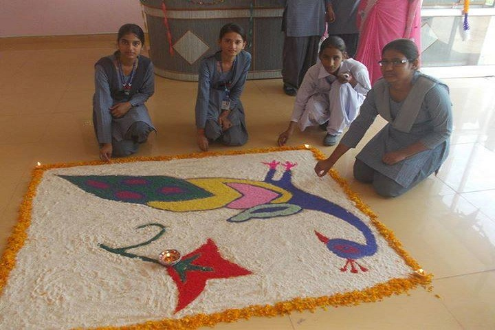 Cambridge International Senior Secondary School-Rangoli Competition