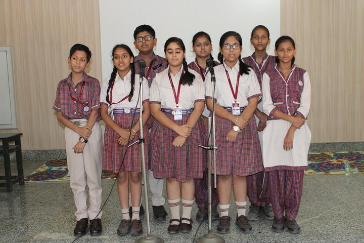 D A V English Medium Model Senior Secondary School-Singing Activity