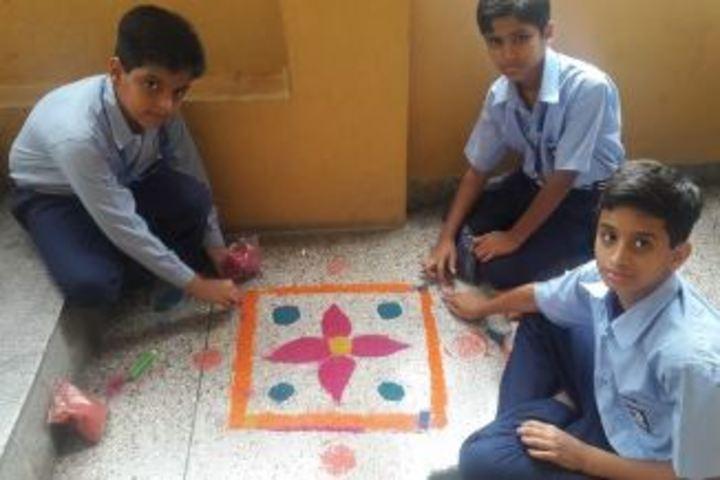 Dayal Singh Public School-Rangoli