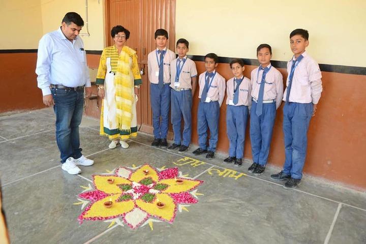 Dayanand Senior Secondary School-Rangoli