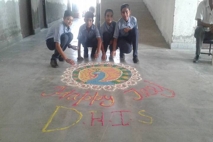 Delhi Heritage International School-Rangoli