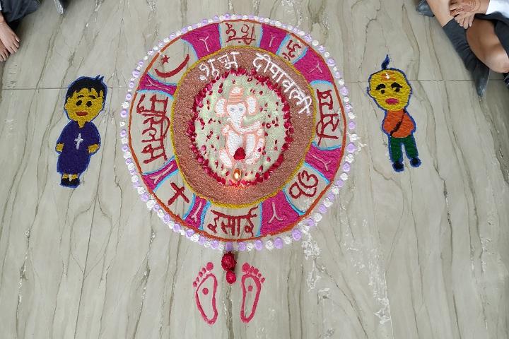 Delhi Public School Ambala-Rangoli Competition