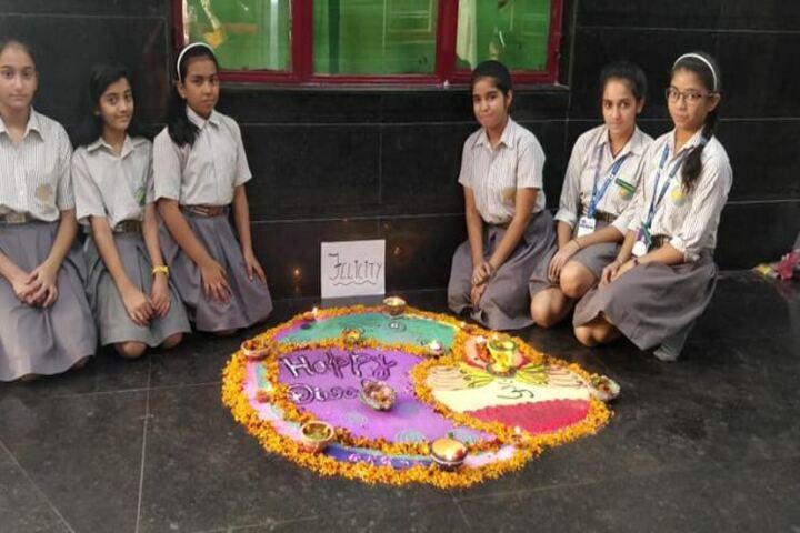 Euro Inertnational School-Rangoli