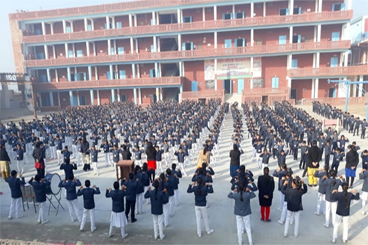 Geetanjali Senior Secondary School-Campus-View With Students