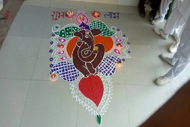 Gyan Bharti Public School-Rangoli