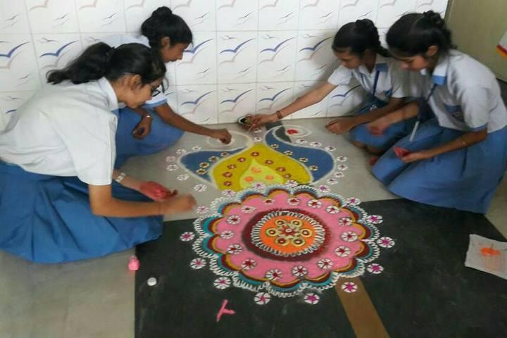 Gyan Deep Senior Secondary School-Rangoli