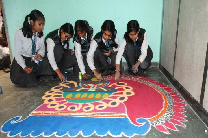 Holy Family Convent Senior Secondary School-Rangoli