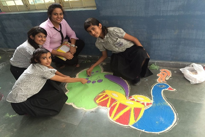Indus Public School-Rangoli Competition