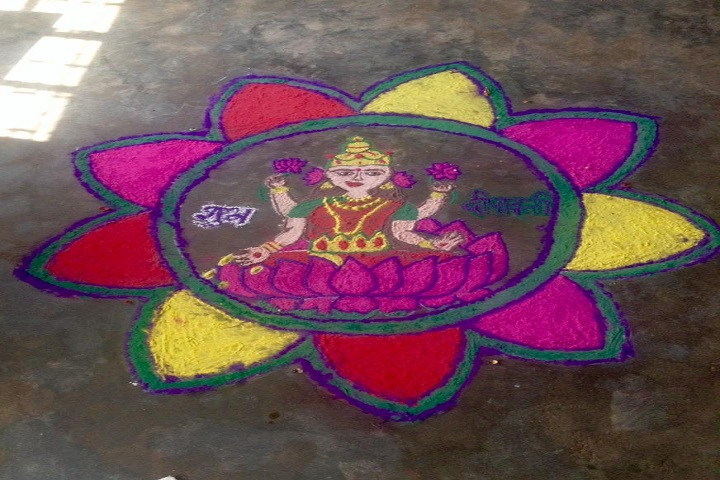 J A Saraswati Vidya Peeth Senior Secondary School-Rangoli