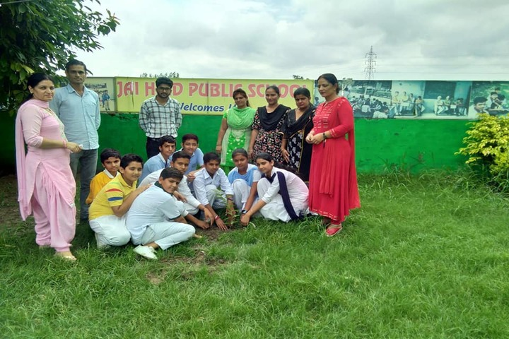 Jai Hind Public School-Tree Plantation