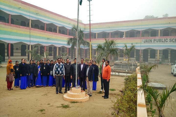 Jain Public School-Flag Hosting