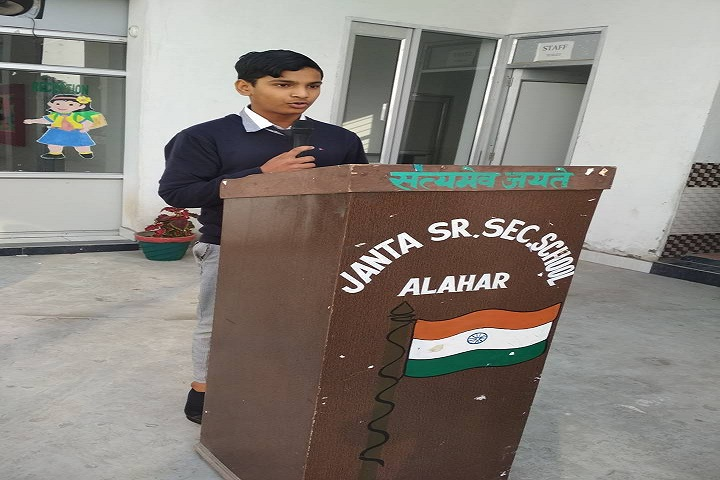 Janta Adarsh Satydev Sr Sec School-Speeches
