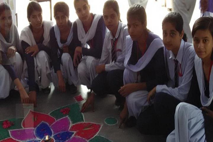Krishna Public High School-Rangoli Competition