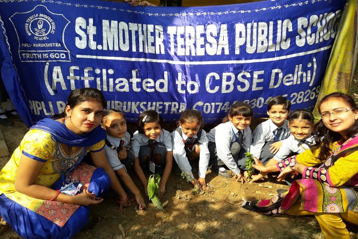 Mother Teresa Modern Public School-Planting a Tree