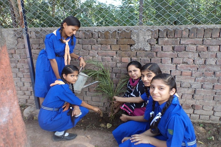 Moti Ram Arya Modern Public School-Tree planting