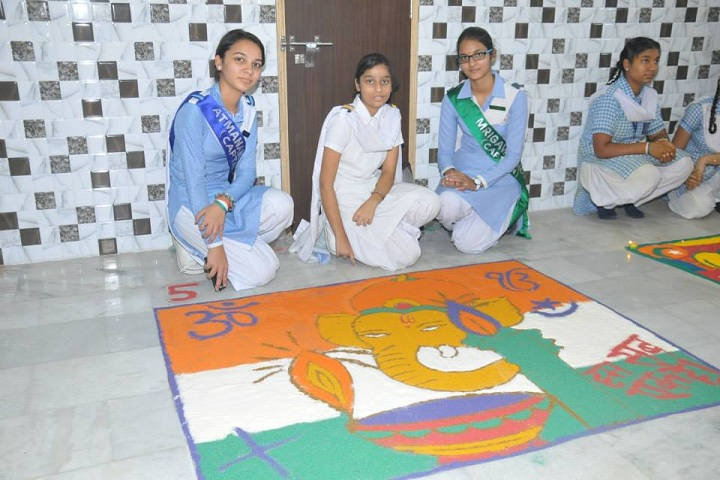 S A Jain Senior Model School-Rangoli Competition