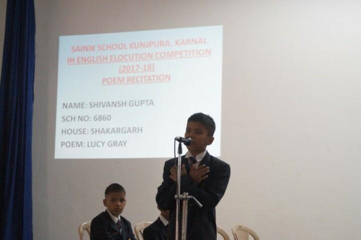 Sainik School-Elocution Competition