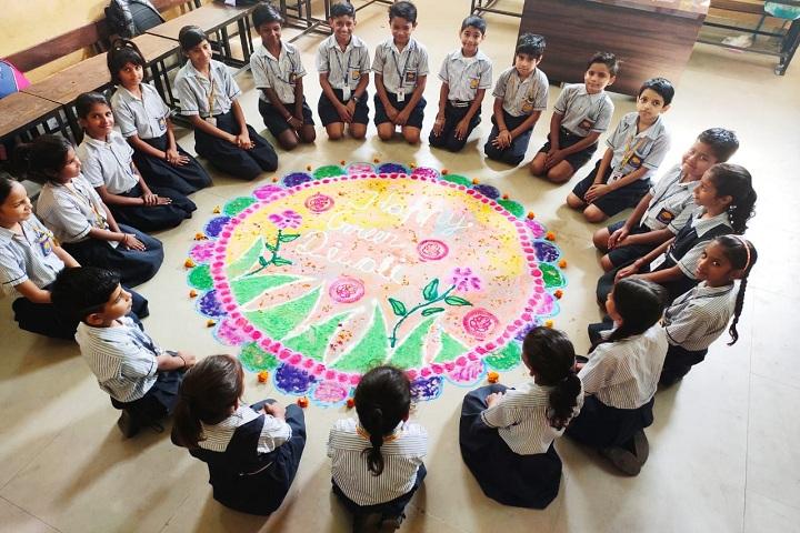 Saraswati High School-Events rangoli
