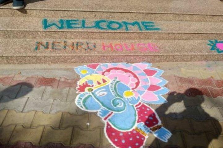 Shri Ram Senior Secondary School-Rangoli