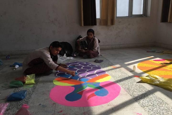 SJS International School-Rangoli Competition