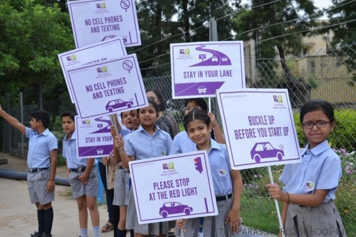 The Paras World School India-Road safety