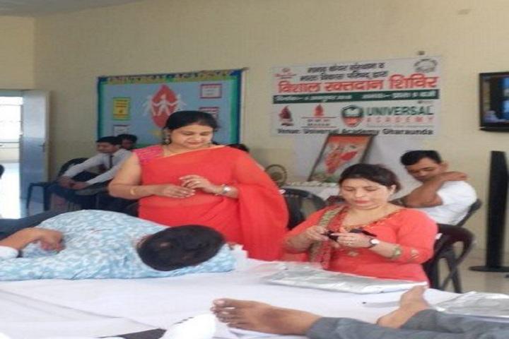 Universal Academy-Blood donation camp