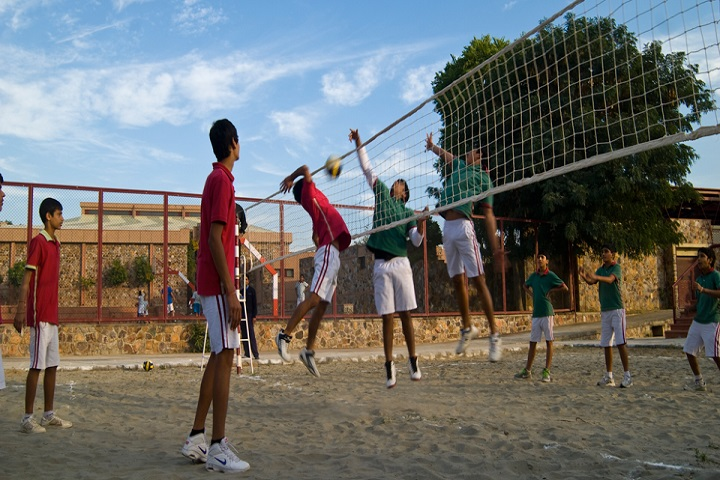 Victor International School-Volley ball courts