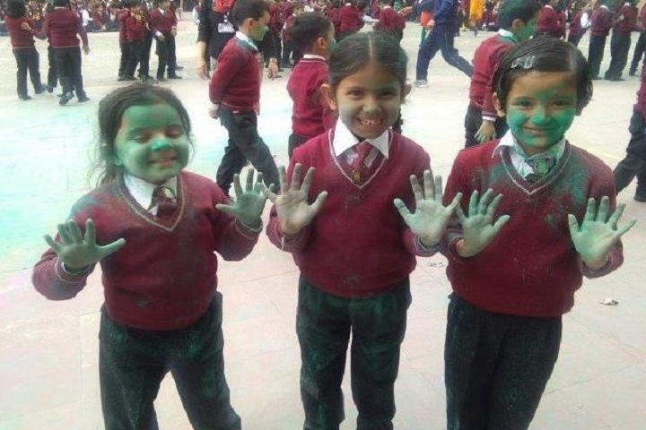 Aadhunik Public School-Holi Celebrations