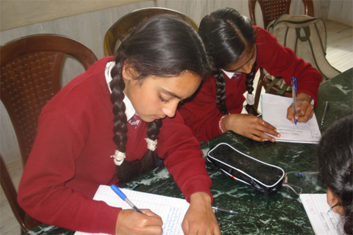 B L Central Public School-Hand Writing Activity