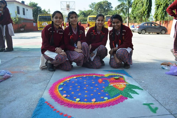 D A V Public Senior Secondary School-Rangoli