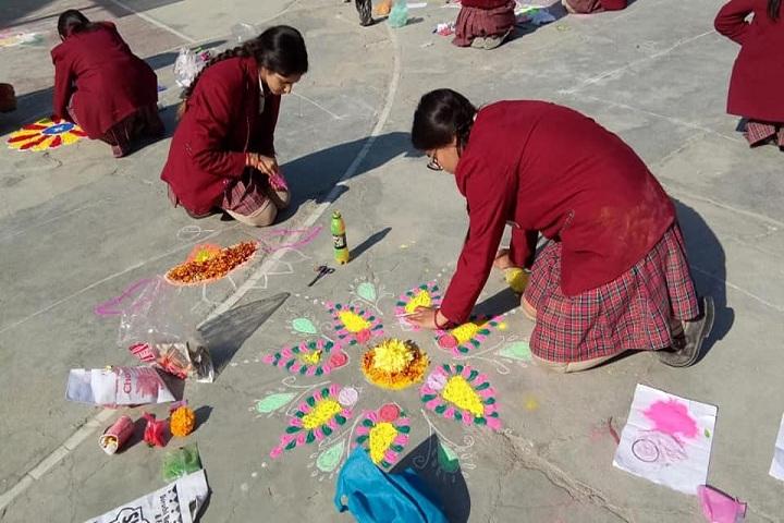 Dr Devi Chand DAV Public School-Rangoli