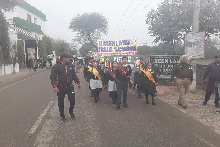 Green Land Public School-Rally