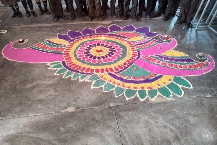 Gurukul Public School-Rangoli