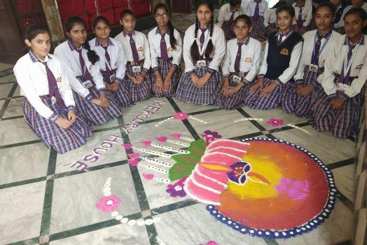 Him Gurukul International School-Rangoli Competition
