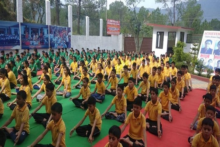 Him Gurukul International School-Yoga Day