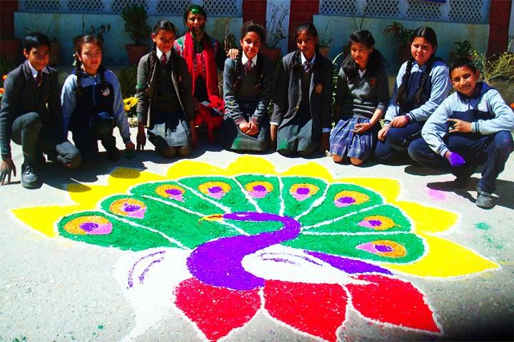 Holy Angels School-Rangoli