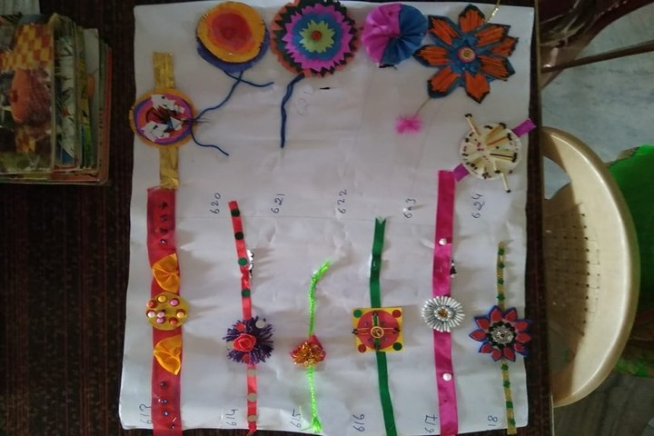 RK International School-Rakhi Making Activity