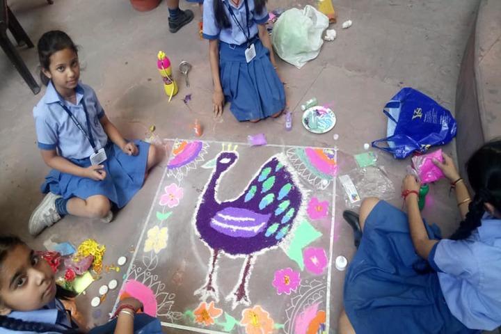 Heritage School-Rangoli Compitition