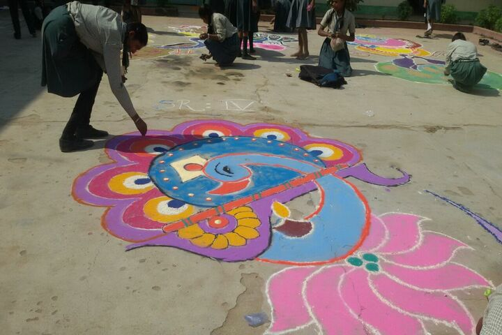 BNT St Mary School-Rangoli Competition