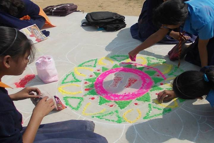 Imperial School Of Learning-Rangoli Activity
