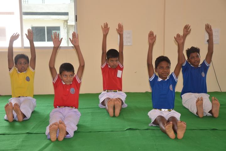 J K International School-Yoga Day