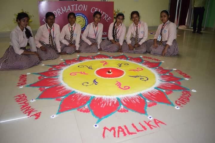 Jharkhand Public School-Rangoli Competition