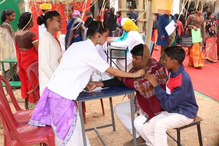 Lady K C Roy Memorial School-Medical Camp Activity