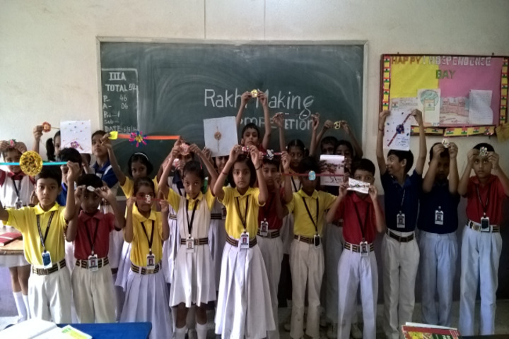 Nirja Sahay Dav Public School-Rakhi Making Activity