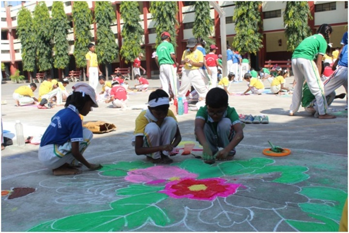 St Johns School-Rangoli Competition