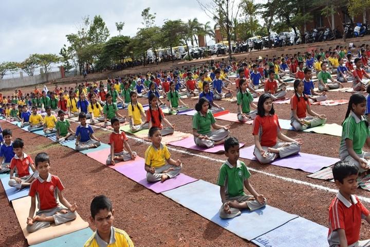 Angadi International School-Yoga Day