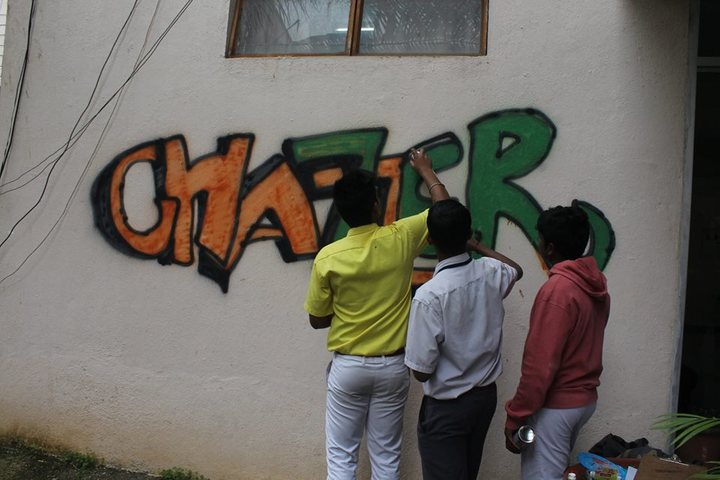 Army Public School-Wall Painting Activity