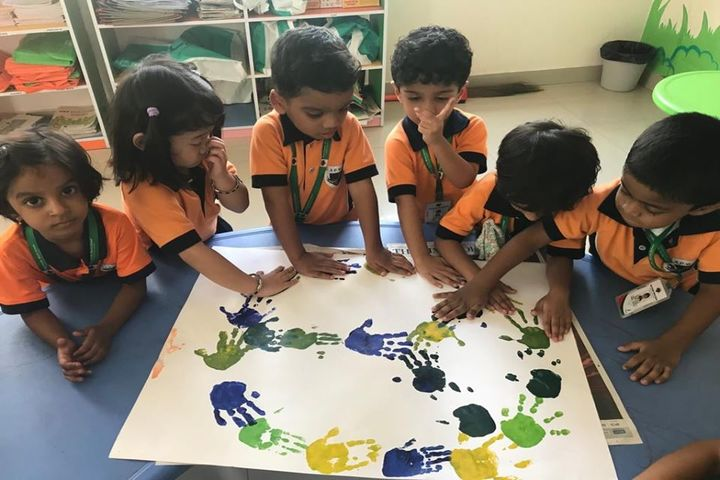 Asia Pacific World School-Hand Print Activity