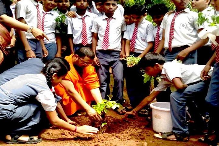 B G S Education Centre-Tree Plantation