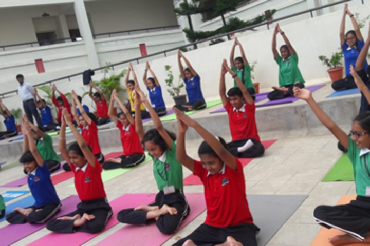 K M V Red Hills High School- Yoga Day
